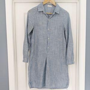 CP Shades pinstripe blue white cotton tunic top